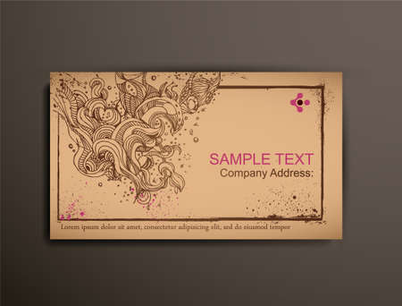 BusinessCallingVisiting Chipboard Card.Abstract Vector