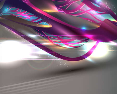 Fantastic Associative Modern Abstract Illustration. Vector Background Vector