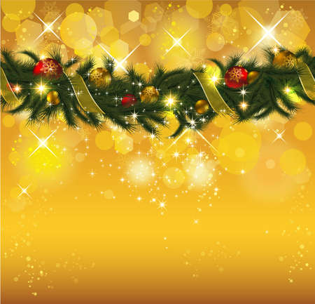 Christmas Background with Garland. Stock Vector - 10933988
