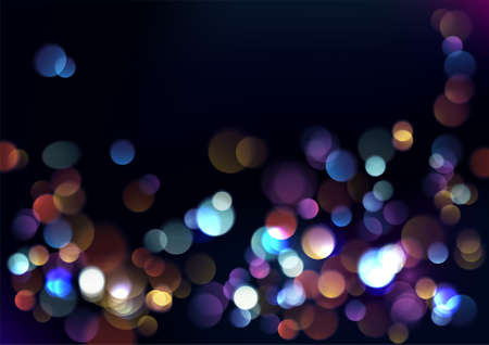 Christmas blurred lights background. Vector Illustration. Illustration