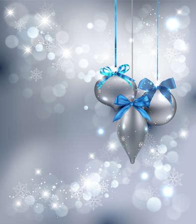 ornaments vector: Sfondo di Natale con ornamenti. Illustrazione Vettoriale.