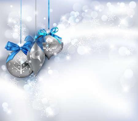 navidad elegante: Fondo de Navidad con adornos. Ilustraci�n vectorial.