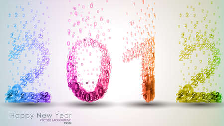 New Year Background. 2012. Vector Illustration.