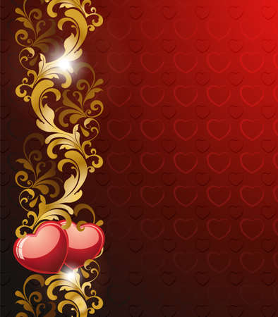 romance image: Floral valentine background.  Illustration