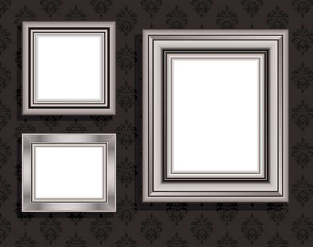 silver picture frame: Vector Illustration of frame for picture.  Illustration