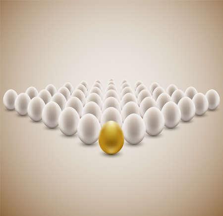 Golden egg concept background. Stock Vector - 11422599