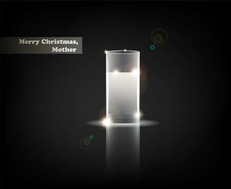 Merry Christmas, Mother. From Serial of minimalistic contemporary Greeting Christmas Cards.  Vector