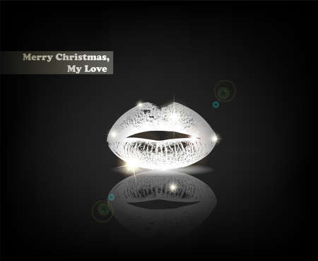 kiss: Merry Christmas, My Love. From Serial of minimalistic contemporary Greeting Christmas Cards.