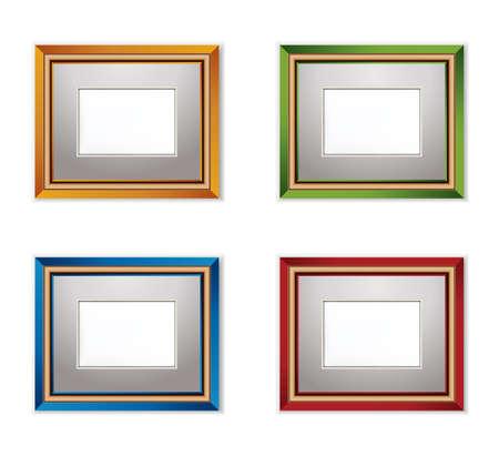 Multicolored Photo frames  Vector