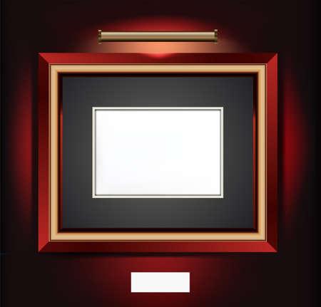 bilderrahmen gold: Vector Illustration der Rahmen f�r die Kunstwerke.