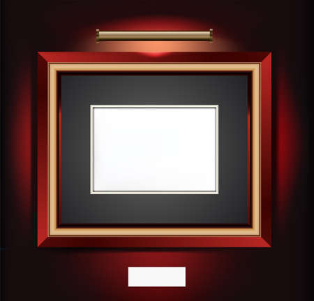 Vector Illustration of frame for artwork.  Vector