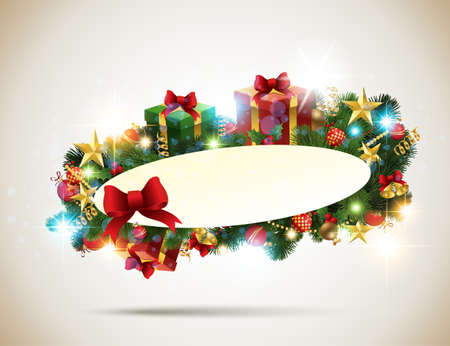 Christmas Banner. Vector Illustration.  Vector