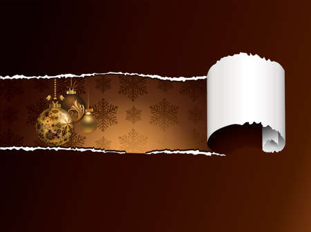 Torn Paper Christmas Background  Vector