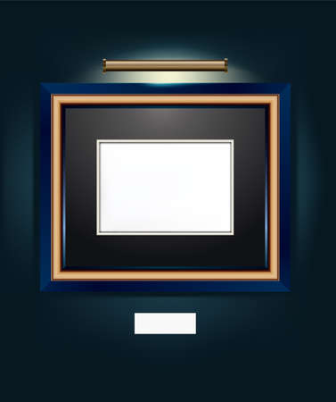 one: Vector Illustration of frame for artwork.  Illustration