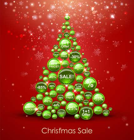discount coupon: Christmas Sale Tree.