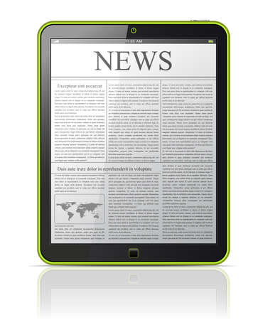 world news: News on generic Tablet PC   Illustration