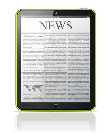 digital news: News on generic Tablet PC   Illustration