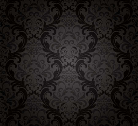leafs: Black Wallpaper
