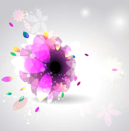 Abstract flower background   Stock Vector - 12810023