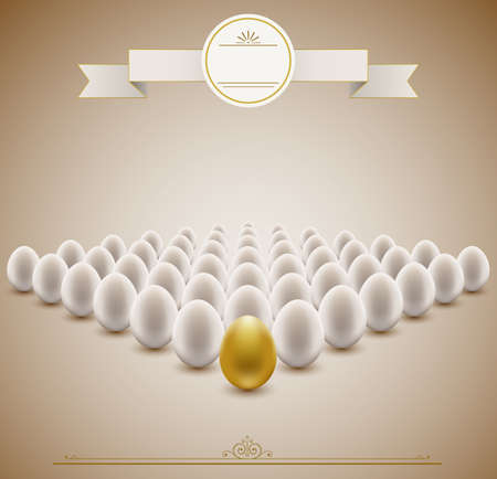 Golden egg concept background   Vector