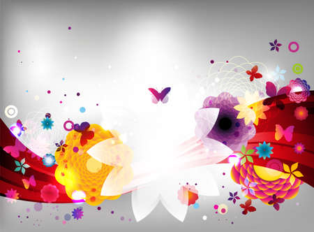 spring background: Abstract floral spring background.