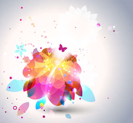 Abstract flower background. Vector
