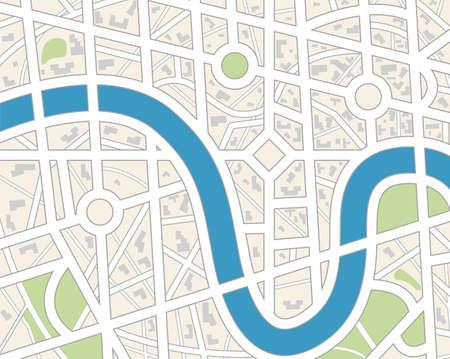 Carte de la ville générique.