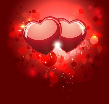 amistad: San Valentín fondo rojo