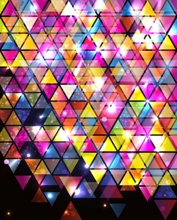 stained glass: Abstract Background with triangle pattern