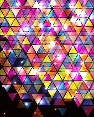 vetrate artistiche: Sfondo astratto con pattern triangolare