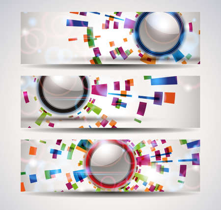 Set of abstract header-banner   Vector