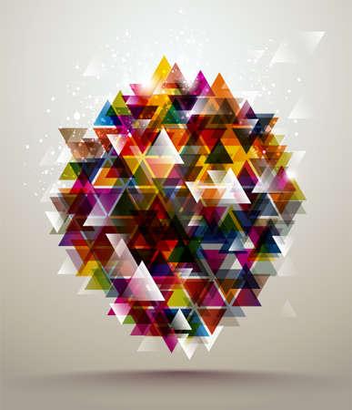 Abstract Driehoek Banner Stock Illustratie