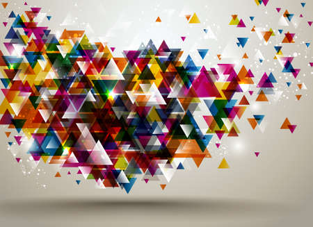 Abstract Background with triangle pattern Stock Vector - 12809922