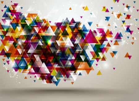 trừu tượng: Tóm tắt nền với mô hình tam giác