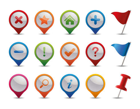 GPS Icons   Stock Vector - 12809919