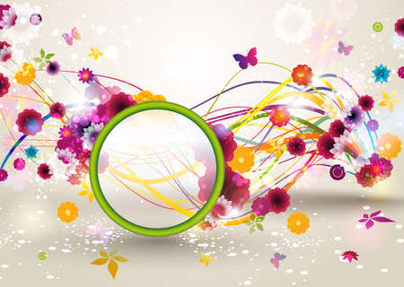 Spring Floral Background   Stock Vector - 12810014