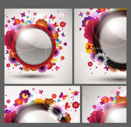 Floral Background set Stock Vector - 12810062