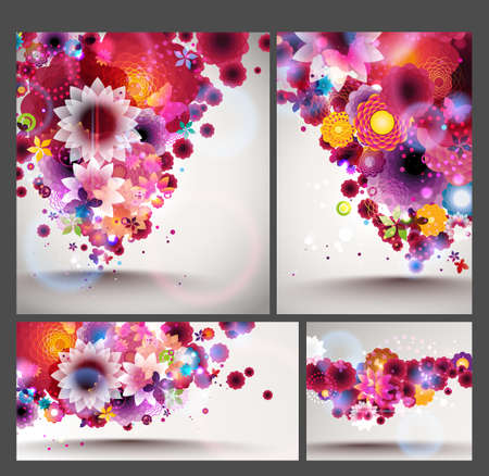 Flower spring Background set Stock Vector - 12810052