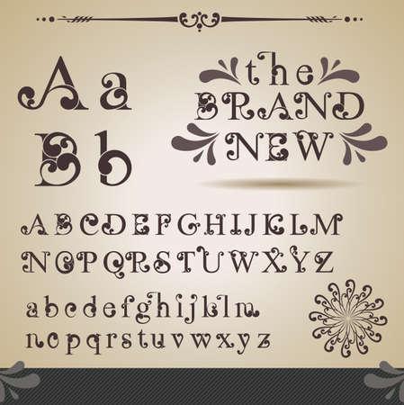 pila bautismal: Alfabeto Swirly