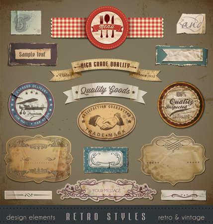 vendange: �l�ments de conception Vintage et Retro