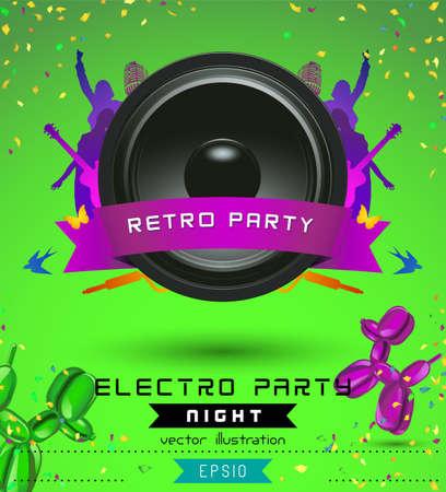 show bill: Concept Music, Retro Plantilla Poster