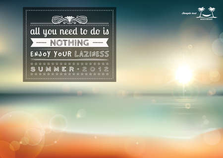 All you need to do is nothing, creative graphic message for your summer design