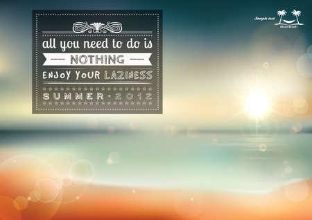 tembellik: Yapmanız gereken tüm şey, yaz tasarımı için yaratıcı grafik mesajı