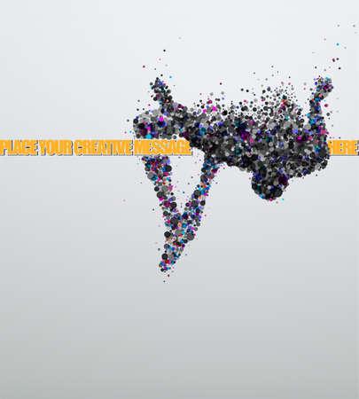走り高跳びの創造的なベクトル イラスト