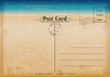 Vintage Sommer Postkarte Vektorgrafik