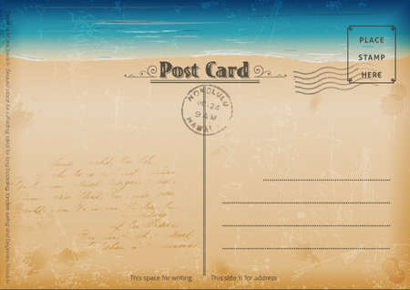post cards: Vintage summer postcard   Illustration