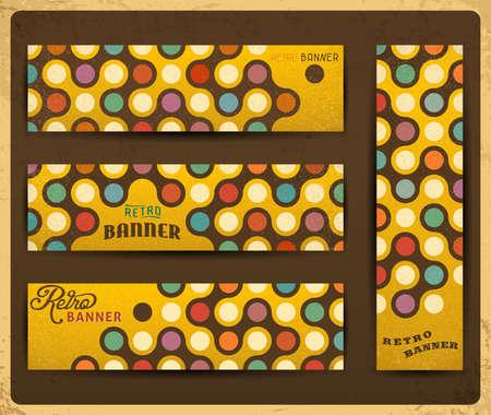 Geometric retro banners collection  Stock Illustratie
