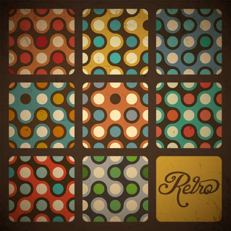 artworks: Retro Seamless pattern set
