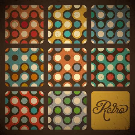 Retro set Seamless pattern Archivio Fotografico - 14965951