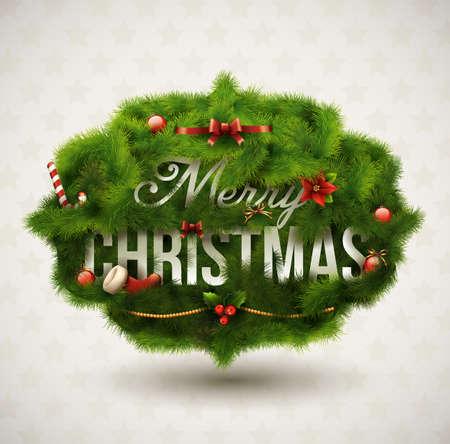 & quot、メリー クリスマス & quot は, 創造的なラベル  イラスト・ベクター素材